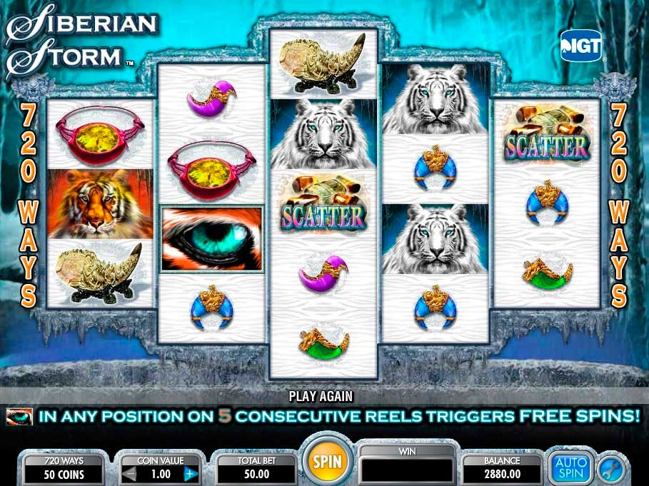 siberian storm slot with scatter symbols